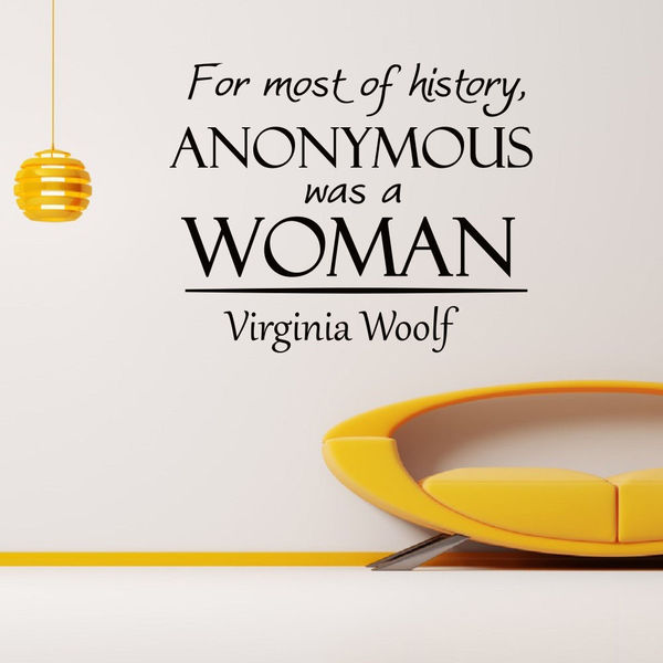 Virginia Woolf Vinyl Wall Art Decal Sticker