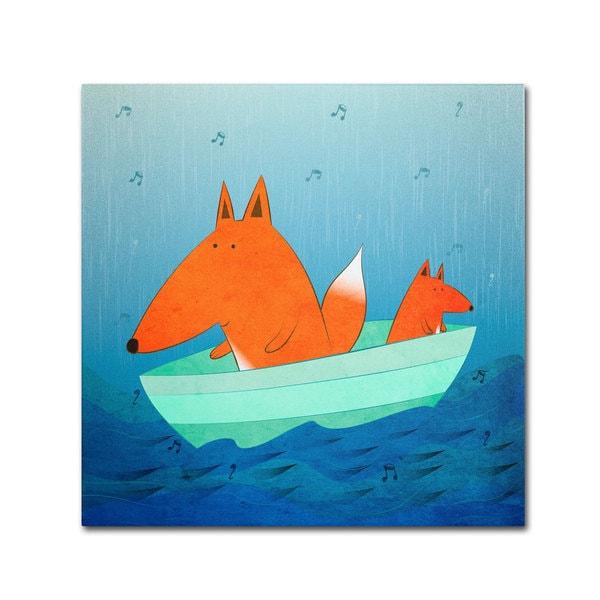 Carla Martell 'Fox in a Boat' Canvas Art