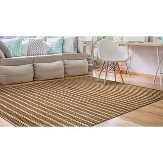 Couristan Natures Elements Desert/ Sand Dune-ivory Rug (6' x 9')