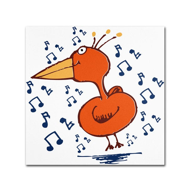 Carla Martell 'Music Bird' Canvas Art
