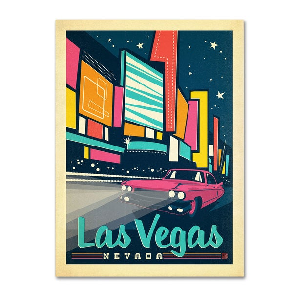 Anderson Design Group 'Las Vegas, Nevada' Canvas Art