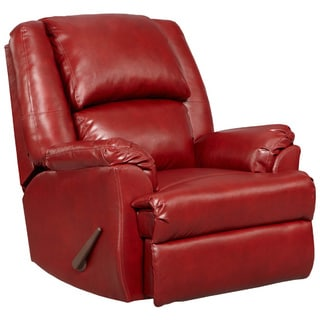 Exceptional Designs Sensations Red Brick Leather Rocker Recliner