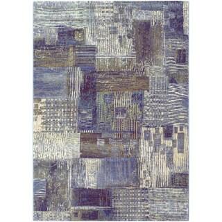 Couristan Easton Abstract Mural/ Antique Cream Rug (9' x 12')