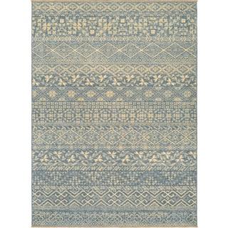 Couristan Elegance Ophelia/ Azure-tan Rug (9' x 12')