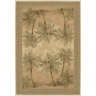 Couristan Everest Palm Tree/ Desert Sand Rug (9' x 12')