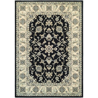 Couristan Everest Rosetta/ Ebony Rug (9' x 12')