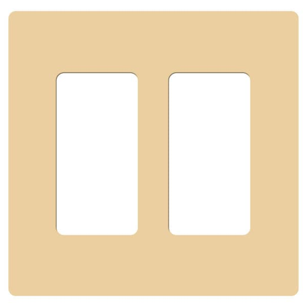 Claro Two Gang Rocker Wallplate by Lutron
