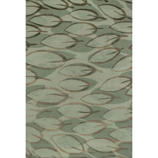 Couristan Impressions Sage Leaf/ Sage-silver Rug (9' x 12')