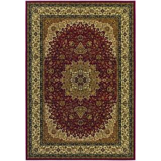 Couristan Izmir Royal Kashan/ Red Rug (10' x 14')