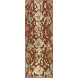 Meticulously Woven Pudsey Ikat Polypropylene Rug (2'7 x 7'3)