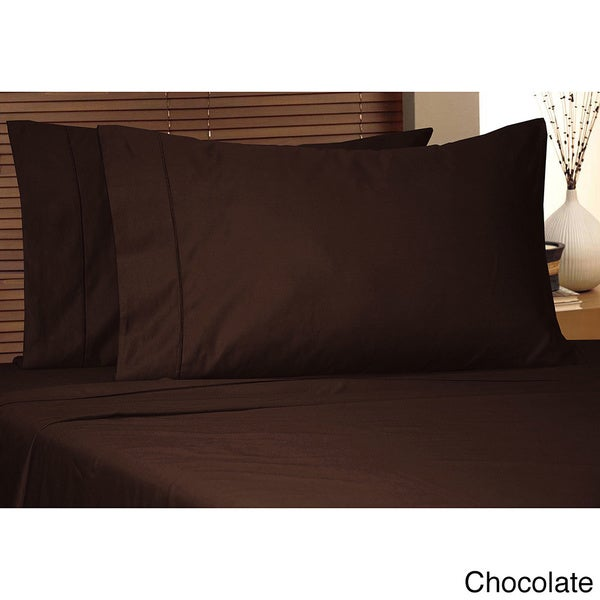 Luxury 800 Thread Count Egyptian Cotton King Size Sheet Set in Chocolate (As Is Item)