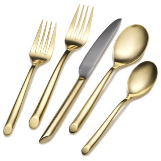 Towle Living Gold Plated Wave 20-piece Flatware Set