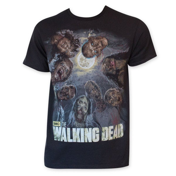 Walking Dead Zombie Circle Tee Shirt