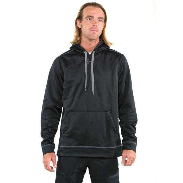 Under Armour Black Men's Coldgear Tech Fleece Pullover Hoodie