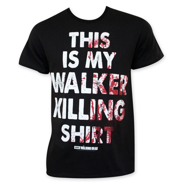 Walking Dead Men's Black Walker Killing Tee Shirt