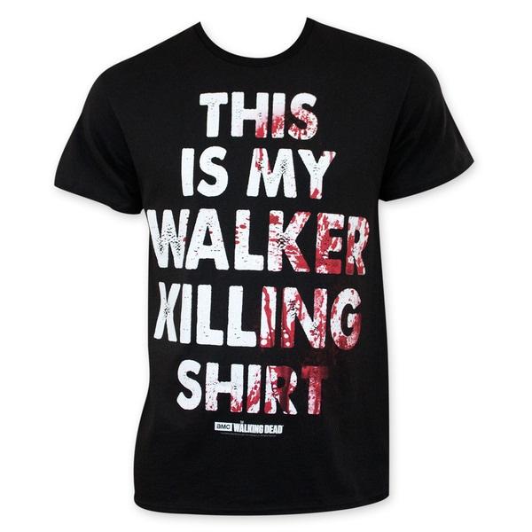Walking Dead Men's Black Walker Killing Tee Shirt