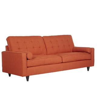 angelo:Home Mara California Vintage Orange Linen Sofa