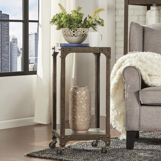 TRIBECCA HOME Galena Industrial Modern Rustic Iron Accent Table Plant Stand