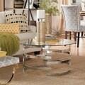 INSPIRE Q Nova Round Glass Top Vortex Iron Base Accent Table