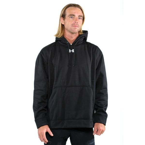 Under Armour Black Men's Team Coldgear Pullover Hoodie