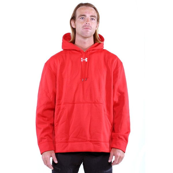 Under Armour Red Men's Team Coldgear Pullover Hoodie
