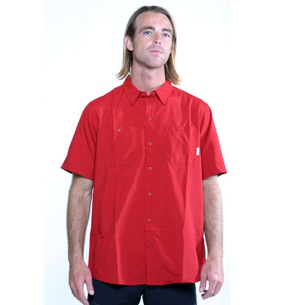 Columbia Men's Red Columbia Corktown Solid SS T-shirt