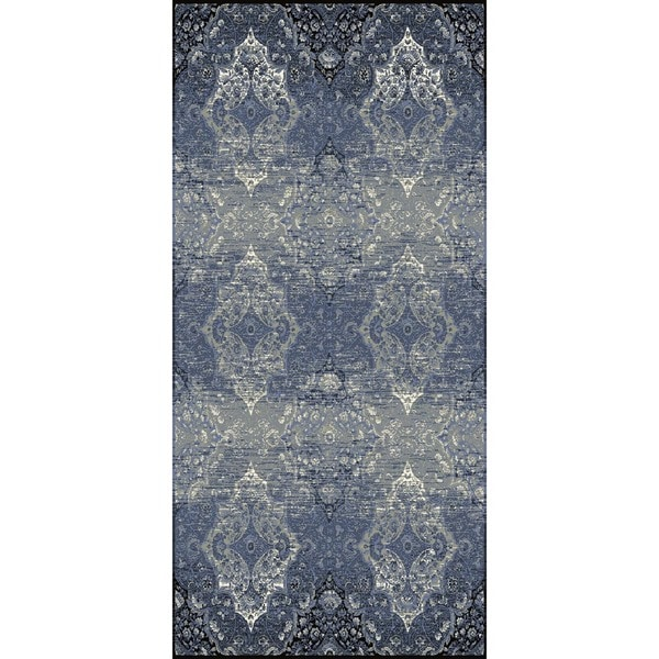 Machine-Made Contemporary Blue/Indigo Polypropylene (5.3x7.8) Area Rug