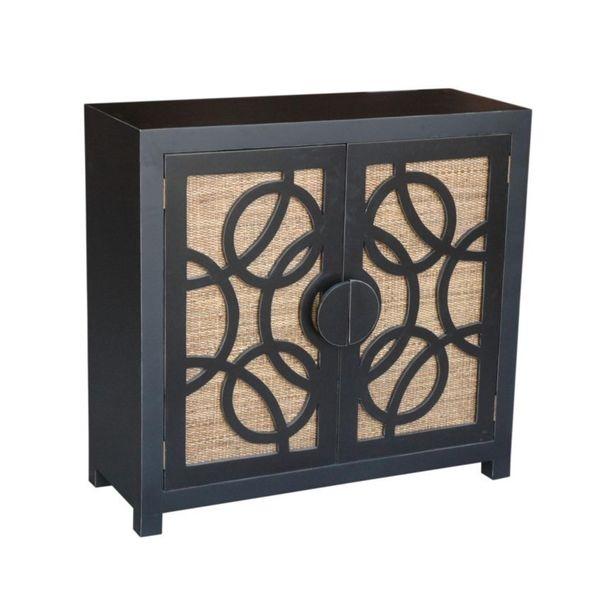 Broomfield Vintage Antique Black TV Stand