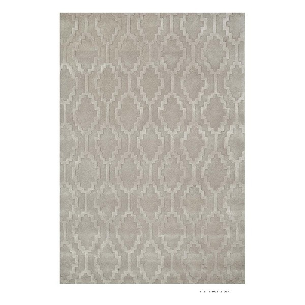 Hand-Tufted Contemporary Ashwood/Classic Grey Wool (5x8) Area Rug