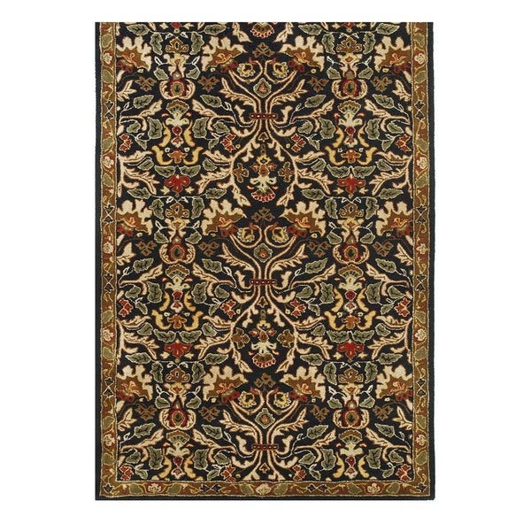 Hand-Tufted Traditional Ebony/Ebony Wool (5x8) Area Rug