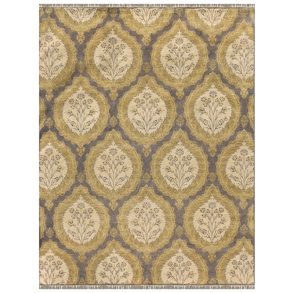 Nuit Arabe QA 42 Silver Sand Colored Rug (9' x 12')