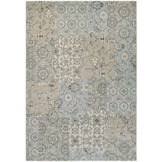 Couristan Traditions Bruges/ Light Grey/ Ivory Rug (9' x 12')
