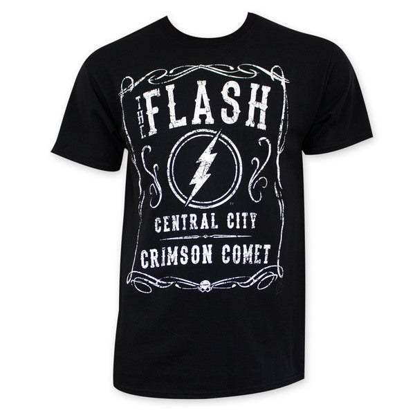Flash Men's Black Jack Daniels Style Tee Shirt