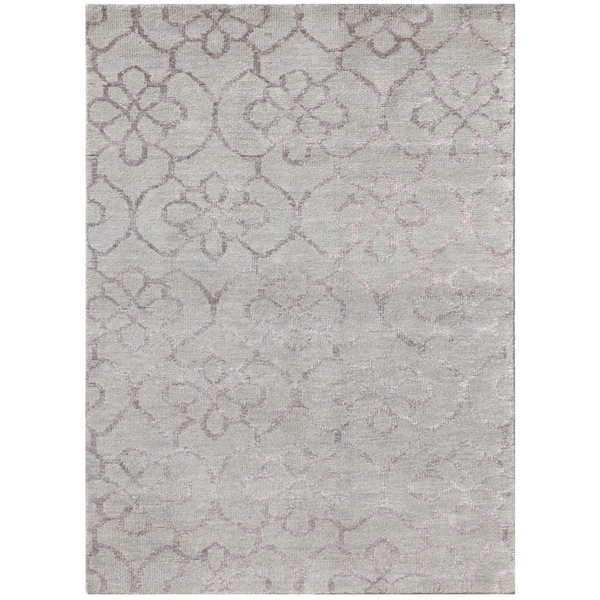 Kimaya KIM 58 Light Grey Colored Rug (5' x 8')
