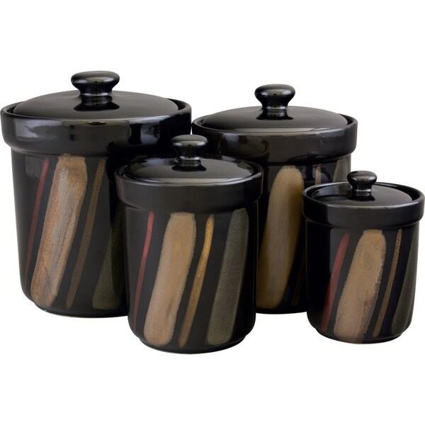 sango avanti black canister set of 4 17526169