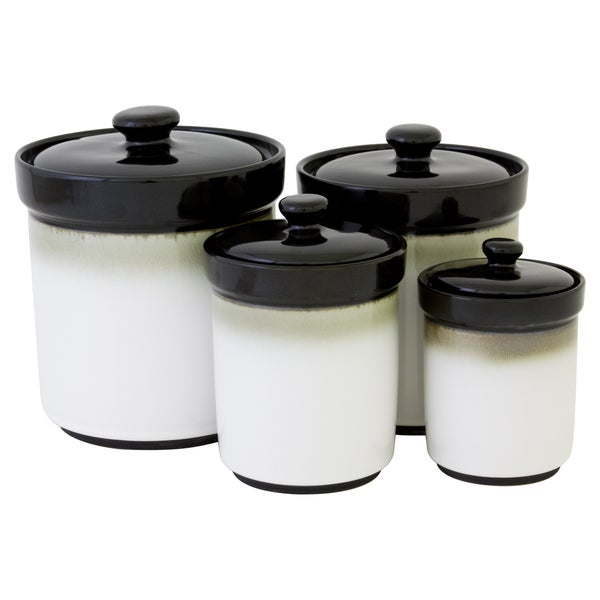sango nova black canister set of 4 17526170