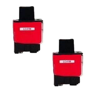 Brother LC41M Compatible Inkjet Cartridge For FAX1840C 1940CN 2440C MFC210C 420CN 620CN 3240C (Pack of 2)