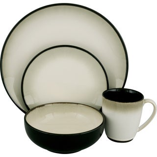 Sango Nova Black 16-piece Dinnerware Set