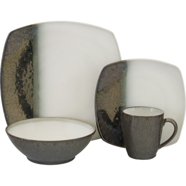 Sango Metallics Black 16-piece Dinnerware Set