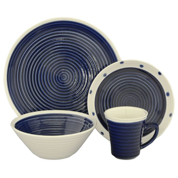 Sango Rico Blue 16-piece Dinnerware Set
