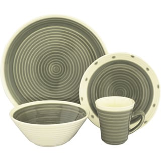 Sango Rico Grey 16-piece Dinnerware Set