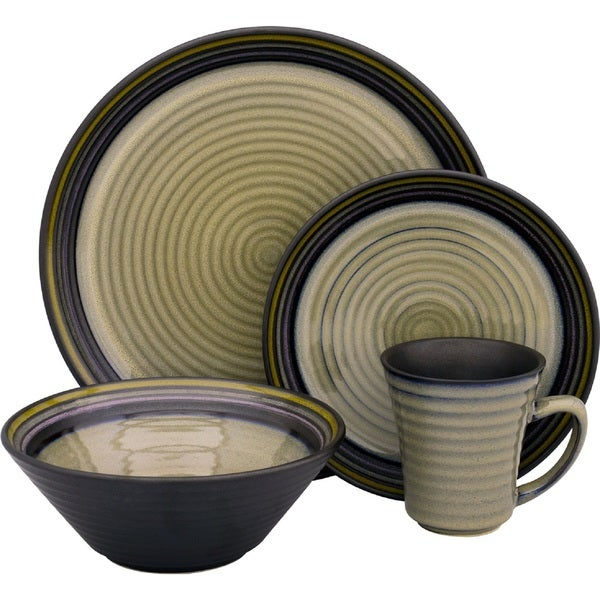 Sango Tropica Black 16-piece Dinnerware Set