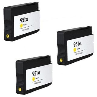 HP 951XL Y (CN048AN) Compatible Inkjet Cartridge For HP OfficeJet Pro 8100 HP OfficeJet Pro 8600 (Pack of 3)