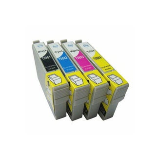 Replacement for Epson T0881 T0882 T0883 T0884 Ink Cartridge Stylus CX4400 Stylus CX4450 Stylus CX7400 (Pack of 4)