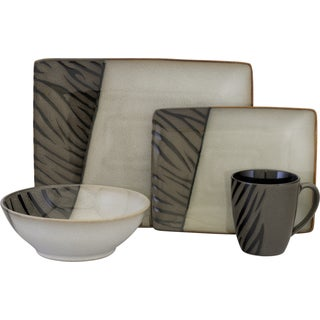 Sango Safari Black 16-piece Dinnerware Set