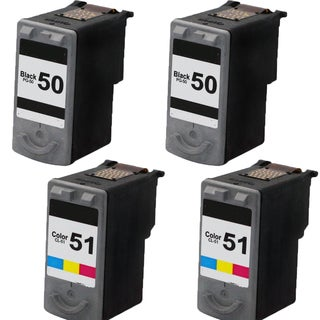 PG-50 CL-51 Compatible Inkjet Cartridge For MP150/160/170 (Pack of 4)