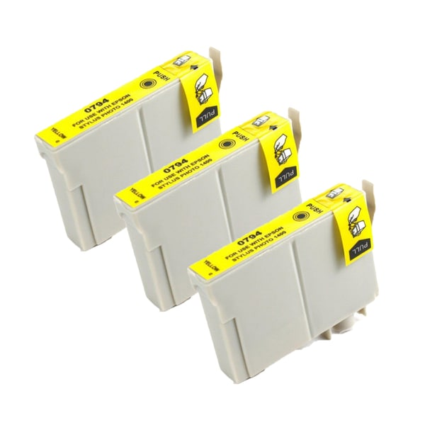 Epson T079420 (T0794) High Yield Yellow Replacement Ink Cartridge PhotoStylus Photo 1400 1430 (Pack of 3)