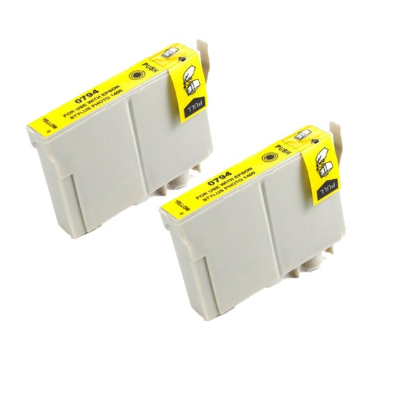 Epson T079420 (T0794) High Yield Yellow Replacement Ink Cartridge PhotoStylus Photo 1400 1430 (Pack of 2)