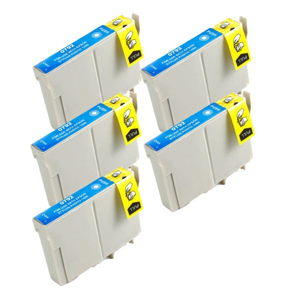 Epson T079220 (T0792) High Yield Cyan Replacement Ink Cartridge PhotoStylus Photo 1400 1430 (Pack of 5)