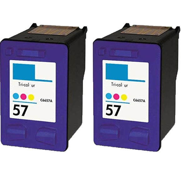 HP C6657 (HP 57) Compatible Inkjet Cartridge For 4110 5510 6100 6110 (Pack of 2)